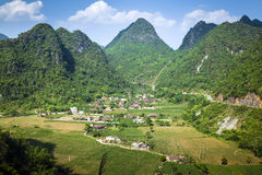 Een dorp in noordelijk Vietnam Royalty-vrije Stock Foto
