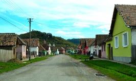 Een dorp in Transsylvanië, Roemenië Royalty-vrije Stock Afbeelding
