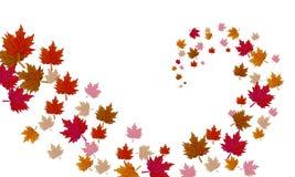 Een draaikolk van de herfstbladeren stock illustratie