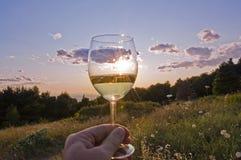Een drank aan de zon stock fotografie