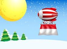 Een drijvende ballon met de vlag van Monaco vector illustratie