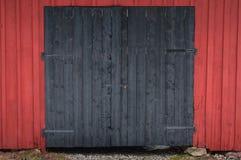 Een dubbele zwarte barndoor Royalty-vrije Stock Afbeelding