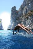 Een duikvlucht naar de zomer/de Duik Royalty-vrije Stock Afbeeldingen
