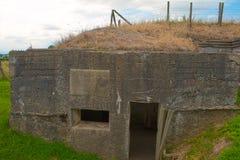 Een Duitse bunker van wereldoorlog één de gebieden van België Vlaanderen royalty-vrije stock foto