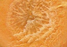 Een dwarsdoorsnede van natuurlijke wortelen als achtergrond Stock Fotografie
