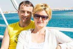 Een echtpaar maakt reis Stock Fotografie