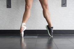 Een een Ballerina zowel Danser als Atleet Stock Foto