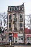 Een een eeuw oud gebouw royalty-vrije stock afbeeldingen