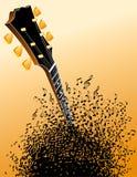 Het asblok en de hals van de gitaar Royalty-vrije Stock Fotografie