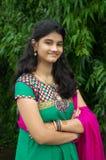 Een eenvoudig Indisch meisje Stock Foto