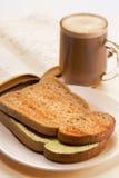 Een eenvoudig ontbijt Stock Afbeeldingen