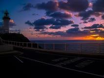 Een eenvoudig overweldigende zonsopgang over Byron Bay, Australië royalty-vrije stock afbeeldingen