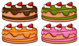 Een eenvoudige gekleurde schets van de cakes Stock Fotografie