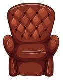 Een eenvoudige gekleurde tekening van een bruin meubilair Stock Fotografie