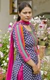 Een eenvoudige Indische Punjabi-vrouw Royalty-vrije Stock Afbeeldingen