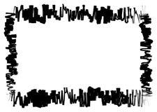 Een eenvoudige stijl van de grenshoutskool stock afbeeldingen