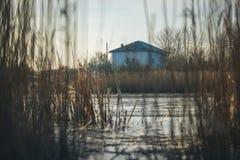 Een eenzaam huis Stock Foto