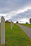 Een eenzame manier en wolken vóór onweer Royalty-vrije Stock Fotografie