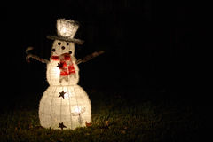 Een eenzame Sneeuwman Stock Foto