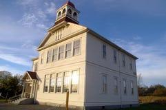 Een eeuw oud schoolhuis Stock Fotografie
