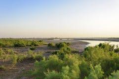 Een Eiland in de rivier Stock Afbeelding