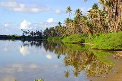 Een eiland van de Maldiven Stock Foto's