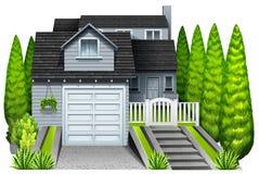 Een elegant huis stock illustratie