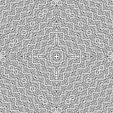 Een elegant zwart-wit vectorpatroon, geometrische vierkante tegel Royalty-vrije Stock Afbeeldingen
