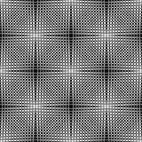 Een elegant zwart-wit vectorpatroon, geometrische vierkante tegel Stock Foto