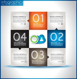 Infographics van de de vormenorigami van het document Stock Fotografie