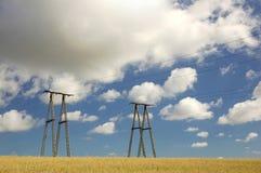 Een elektriciteitspylonen Royalty-vrije Stock Afbeelding