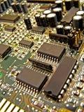 Een elektronische kring Stock Foto's