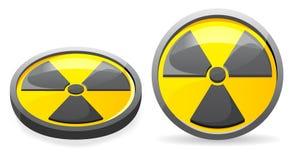 Een embleem is een teken van straling Stock Foto's