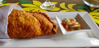 Een empanada, Pasen-Eiland, Chili royalty-vrije stock fotografie
