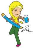 Een energic moslimvrouw Royalty-vrije Stock Afbeeldingen