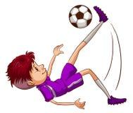 Een energieke voetballer Royalty-vrije Stock Foto