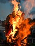 Een enge avond van het branden van heksen royalty-vrije stock fotografie