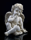 Een engel en een duif stock afbeelding