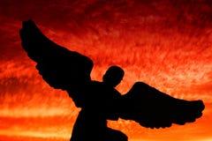 Een engelensilhouet Stock Foto's