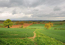 Een Engels Landelijk Landschap Stock Afbeeldingen