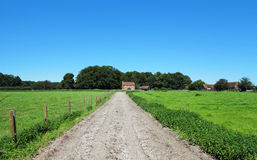 Een Engels Landelijk Landschap met Landbouwbedrijf Royalty-vrije Stock Fotografie