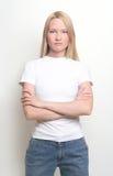 Een enkel meisje Stock Fotografie