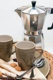 Een espresso tevreden! Royalty-vrije Stock Fotografie