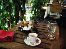 Een espresso voor u en uw publiek! Stock Fotografie