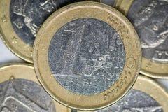 Een Euro Muntstuk royalty-vrije stock foto