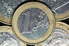 Een Euro Muntstuk royalty-vrije stock fotografie