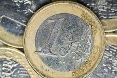 Een Euro Muntstuk stock afbeeldingen