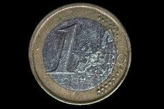 Een Euro Muntstuk stock foto's