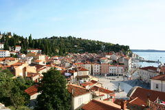 Een Europese stad Stock Foto's