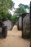 een excursie aan Polonnaruwa, 26 JANUARI 2018 Stock Foto's
